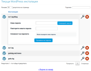 wordpress парола